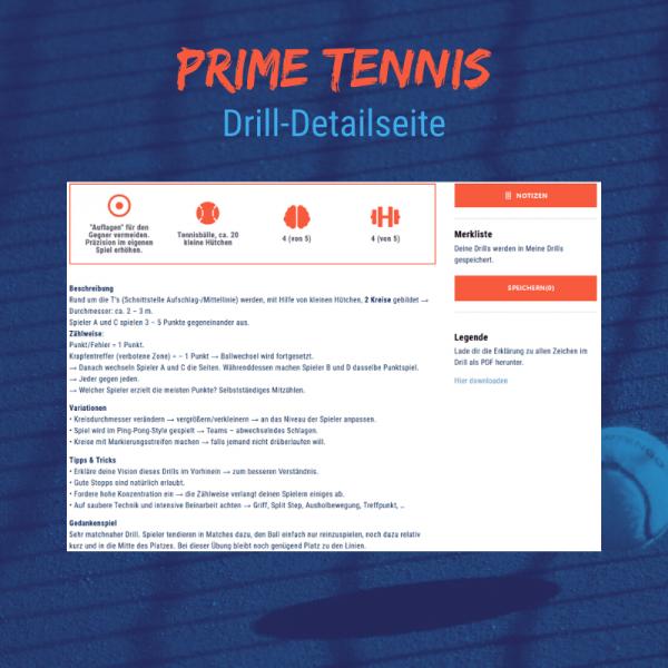 Shop temowo Prime Tennis Drilldetailseite
