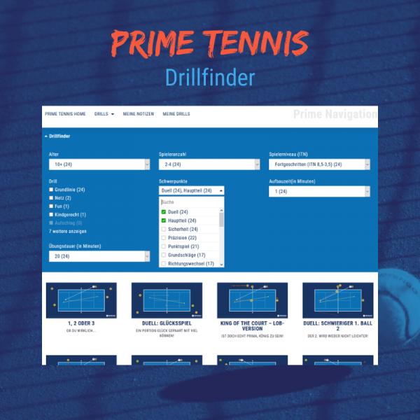 Shop temowo Prime Tennis Drillfinder
