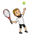 Stefan Reitinger als Tennisspieleremoji