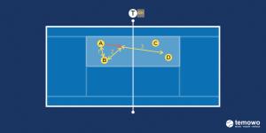 Tennis. Volleyfungame. 3 Touch Volleygame.