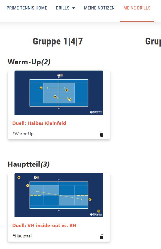 Prime Tennis Meine Drills