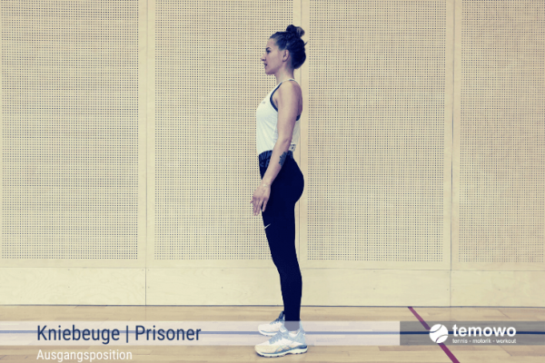 Fitnesstraining für zu Hause Prisoner Kniebeuge
