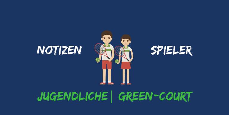 Notizen Spieler Greencourt