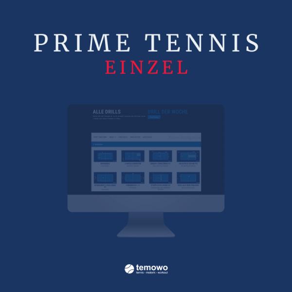 digitaler Tennistrainer Einzellizenz Prime Tennis