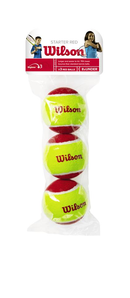Tennisbälle Wilson Starter rot